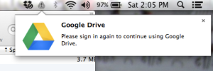 googleDrive tidak dapat login