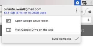 googleDrive dapat sync